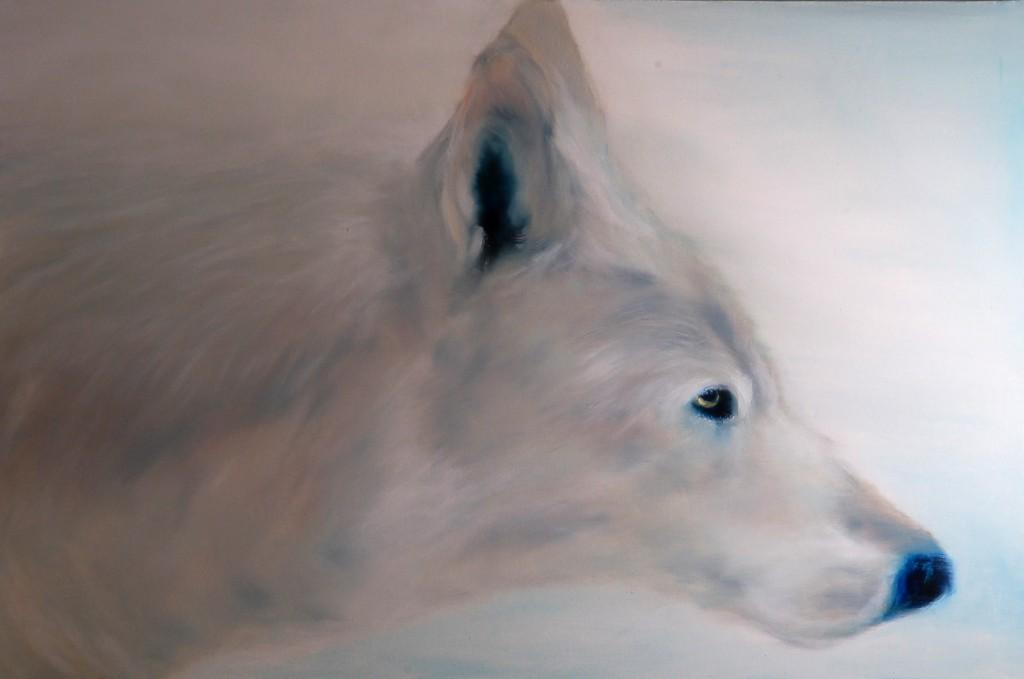 Max Blau - Weißer Wolf