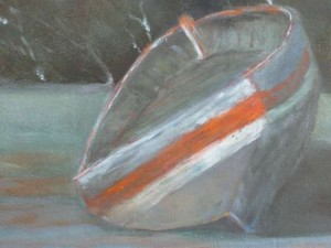 Boot bei Ebbe